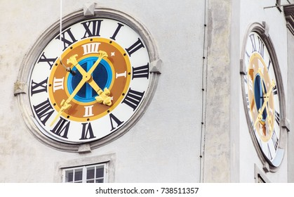 Old clock in Salzburg