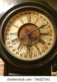 old clocks on the brick wall