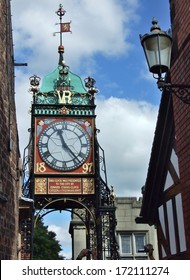 The old clock-tower in Chester, England