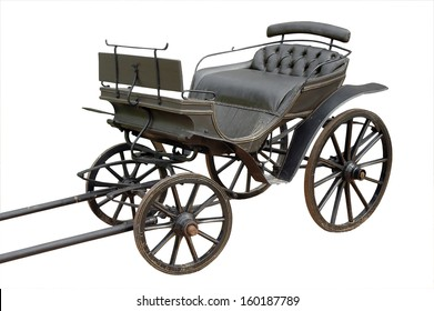 old coach isolated on white. clipping mask
