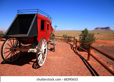 Old coach at Monument Valley, Arizona, USA