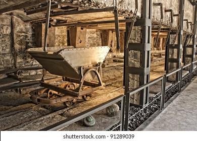 Old coal mine wagon