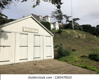 Old Coastguard Station located in Point Arena Ca. Mendocino County.