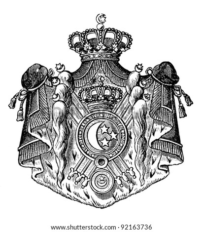 old coat arms egypt engraving by stock photo edit now 92163736 2018 Magazine Covers engraving by alwin zschiesche published on illustrierts briefmarken album leipzig germany 1885 image