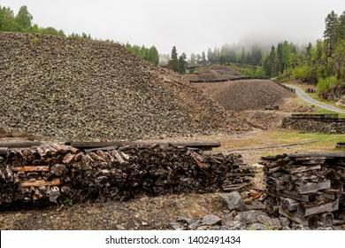 Old cobalt mine in Norway in Åmot