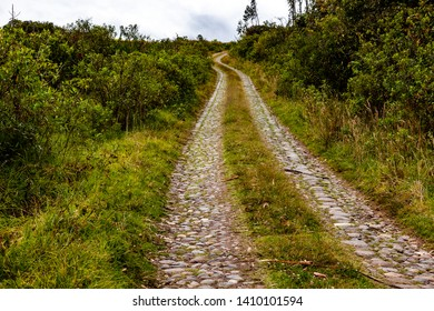 Old cobbled road, well preserved and little used, sector Mira, Carchi, Ecuador