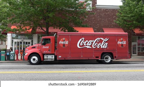 Old Coca-Cola truck in Atlanta - ATLANTA / GEORGIA - APRIL 22, 2016