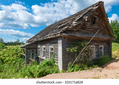 Old collapsing house