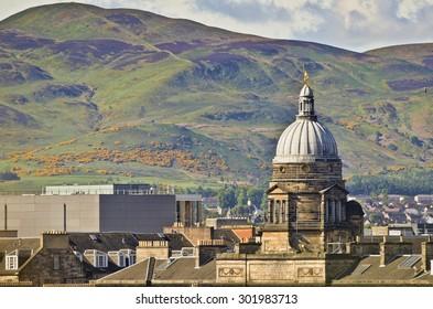 Old College, Edinburgh, and Pentland Hills