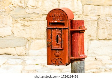 Old Colonial English Post Box from 1910-1936, South Africa.