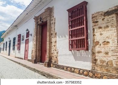 Old colonial houses in Santa Fe de Antioquia, Colombia