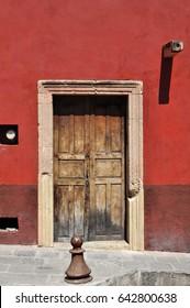 Old  Colonial mexican house in San Miguel de Allende Mexico