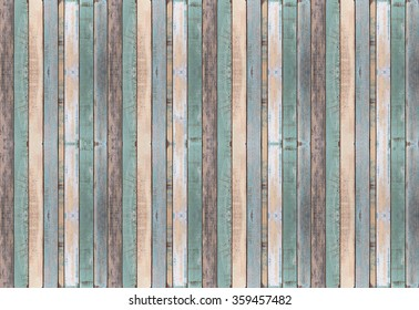 Old color wood plank texture and background