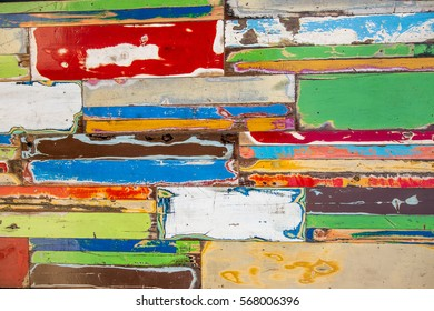old color wood planks - background taken from an old boat in Balian beach, Indonesia