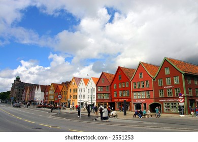 Old colored houses from Bergen, Norway