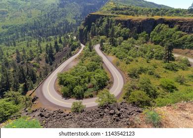 Old Columbia Highway Loop at Rowena Crest in Columbia River Gorge