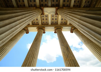old columns of building in Athens