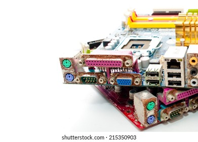 Old Computer full mother board .
