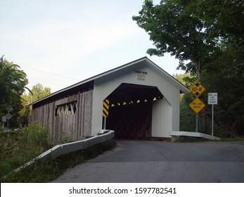 Old Comstock covered bridge in Vt.