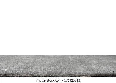 old concrete floor isolated on white background