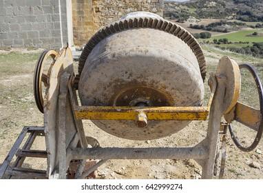 An old concrete machine