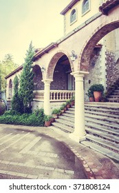 Old Concrete stair with tuscany style - Vintage Filter
