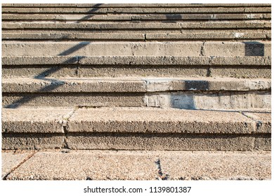 The old concrete stairs