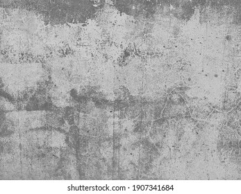 Old Concrete wall In black and white color