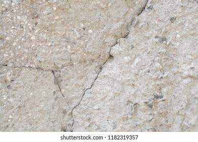 old concrete wall with crack background and texture