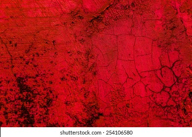 Old concrete wall red background