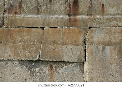 Old concrete wall weathered and stained