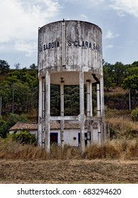 Old concrete water tower