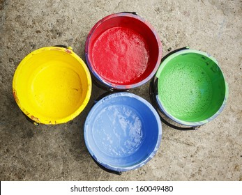 Old containing colorful plastisol silkscreen.
