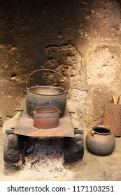 Old cooking pots