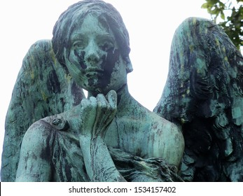 Old Copper Cemetery Angel Statue