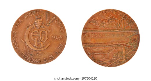 Old Copper Medal Agricultural Exhibition in Geneva in 1905
