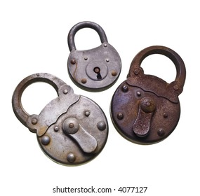 old corroded padlock