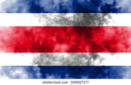 Old Costa Rica grunge background flag