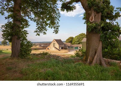 Old Cotswold farm at Donnington, Gloucestershire, England