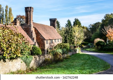 Old cottage with lovely chimneys, Milford Surrey, England, UK.
