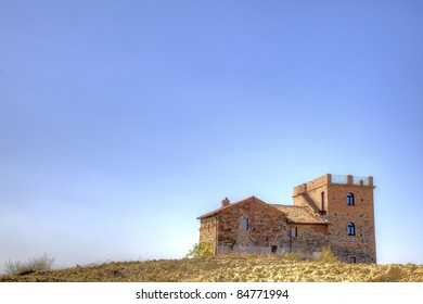 Old country house in the hills, Oltrepo Pavese, Italy.