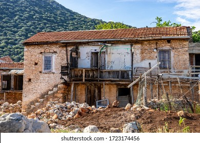 Old country house in the village, traditional village life, Kas, Turkey.