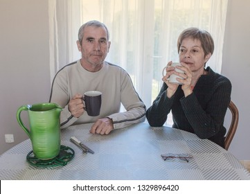 old couple having a snack