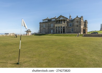The Old course St Andrews with the royal and ancient clubhouse in the background