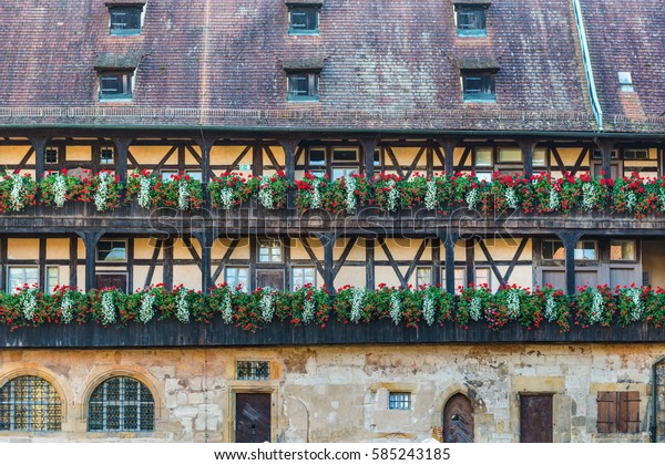 Old court (Alte Hofhaltung) in Bamberg, Germany. It still contains fragments of masonry from the great hall of the 11th-century palace.