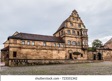 Old court (Alte Hofhaltung) - a historic building complex in Bamberg. It consists of former residential and economic buildings of Episcopal Court (15th century). Bamberg, Upper Franconia, Germany.