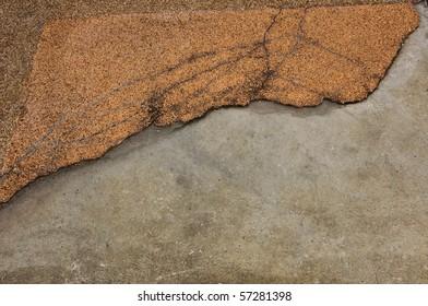 Old crack brick wall