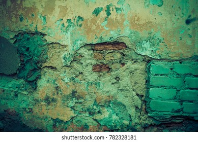 Old cracked wall texture background