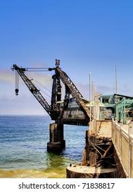 Old crane at Vergara quay, Vina del Mar, Chile