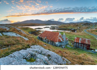 An old croft at Quidnish on the Isle of Harris in Scotland